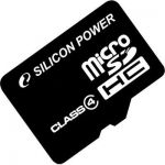 MicroSD 4GB Silicon Power (SD adapter) Class 4