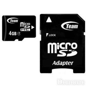 MicroSD 4GB Team (SD adapter) Class 4 ― Доктор Мобил